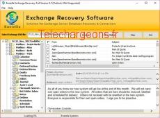 Restore Exchange EDB to PST 8.7 capture d'écran